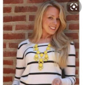 #1060 Jcrew Necklace Yellow Bubble Beaded Drop
